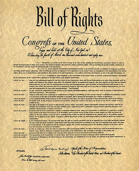 printable us constitution and amendments printable bill of rights pdf the bill of rights