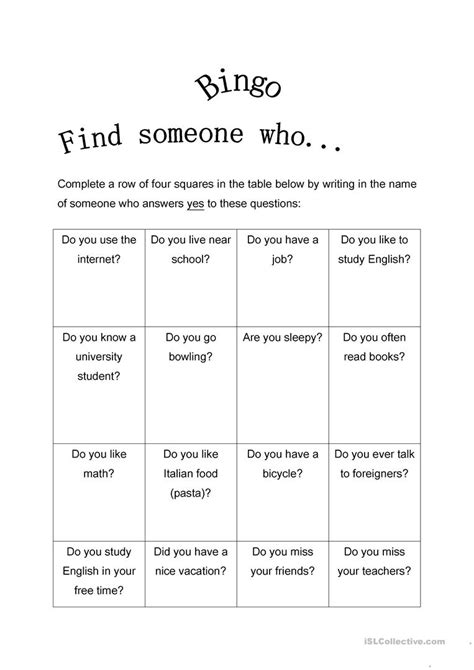 Bingo Search Worksheet Bingo Worksheet Mytourvn Worksheet Study Site