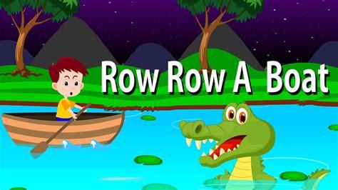 youtube row the boat row row row your boat lyrical rhyme english nursery