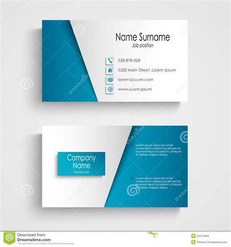 modern light blue business card template stock