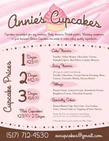 Cupcake Menu Template by Cupcake Menu Template Cake Ideas And Designs