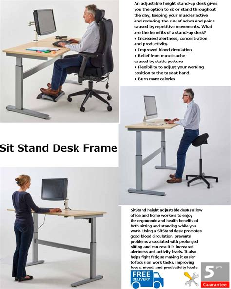 sit stand desk frame sit stand desk frame office interiors ltd