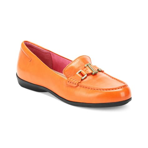 isaac mizrahi loafers isaac mizrahi new york cady loafers in orange lyst