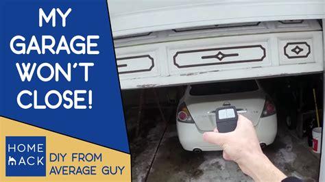 Garage Door Not Closing by Garage Door Not Closing Easy Fix