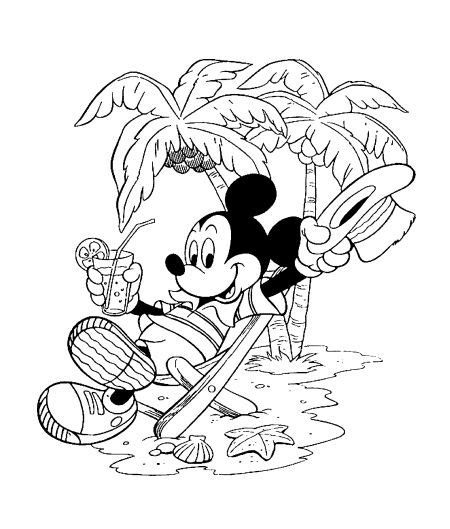 mickey mouse beach coloring pages vacation coloring pages mickey mouse coloring3 120k