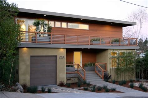 mid century modern mixed with traditional landscape railing exterior contemporary with mid century