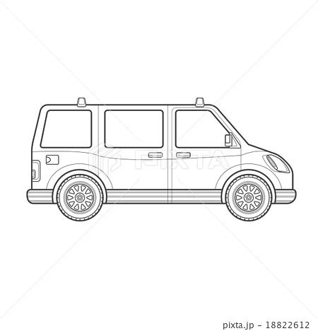 Outline Style Auto by Outline Car Style Illustration Icon のイラスト素材 18822612 Pixta
