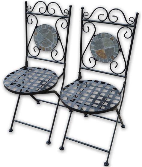 decorative folding chairs woodside set of two decorative mosaic folding garden