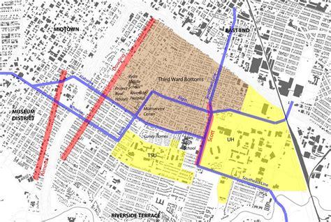 houston map by wards ward houston images