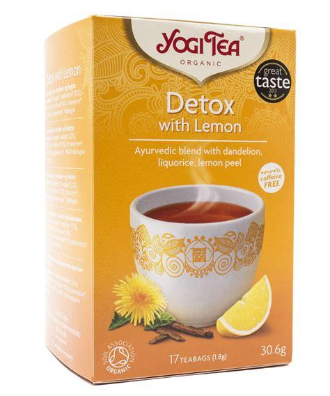 When To Detox With Lemon Yogi Tea by Yogi Tea Detox With Lemon Detox čaj S Citronem Bio