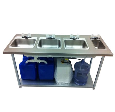 portable 3 compartment sink portable sink depot portable sink stainless steel 4