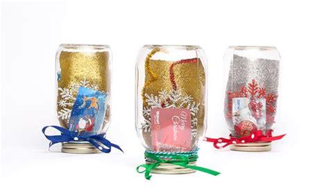 Mason Jar Snow Globe Gift Card - glitterific mason jar snow globe gift card holder idea walmart com
