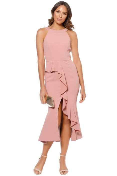 Asymmetric Ruffle Dress crepe asymmetric ruffle dress in by nicholas for hire