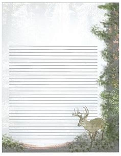 printable nature stationery deer stationery template free deer printable stationery
