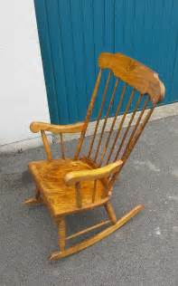 Unfinished Wood Rocking Chair by Solid Wood Rocking Chair 163 40 00 Picclick Uk