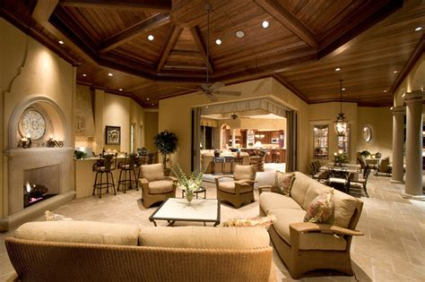 Custom Living Room | sater group s quot cordillera quot custom home plan