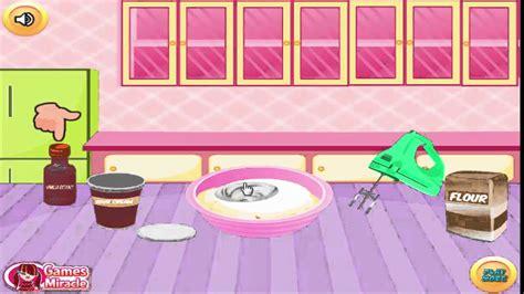 islak kek yapma oyunlari kakaolu kek yapma oyunu