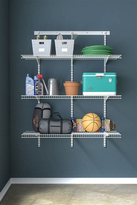 closetmaid locations closetmaid shelftrack utility 3 shelf kit walmart