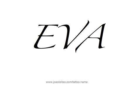 tattoo name eva eva name tattoo designs