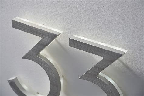lighted house numbers modern 8 quot neutra house numbers led backlit luxello