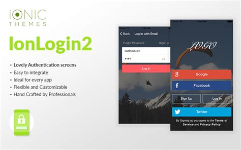 ion auth tutorial login 2 ionic login template ionicthemes