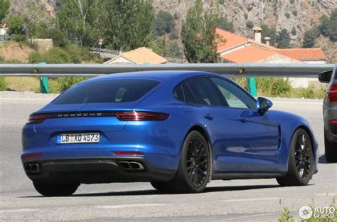 blue porsche panamera 2017 2017 porsche panamera turbo already shows up in spanish