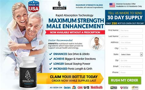 Granite Male Enhancement - ME Pills to Boost Sex Drive