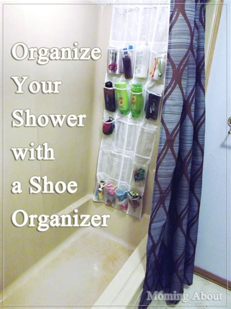 bathroom shower shoo holder moming about organize your shower with a shoe organizer