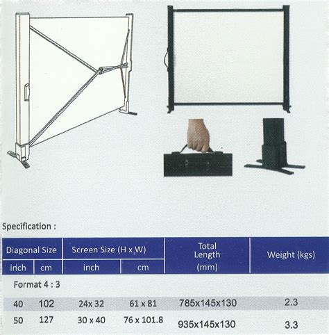 Layar Proyektor Screenview Tripod Screen 1717l jual layar proyektor projector microvision table screen