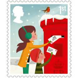 50 first class posting christmas cards stamps on self adhesive stamp