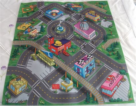 play car mat rug toddlers activity car play safe felt floor mat rug playmat next day ebay