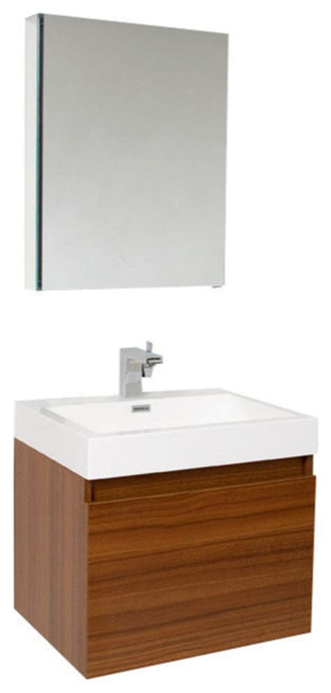 Brushed Nickel Bathroom Cabinet by Nano Teak Vanity W Medicine Cabinet Cascata Brushed