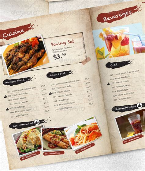 Indesign Menu Template 23 Free Premium Designs Download Indesign Restaurant Menu Template