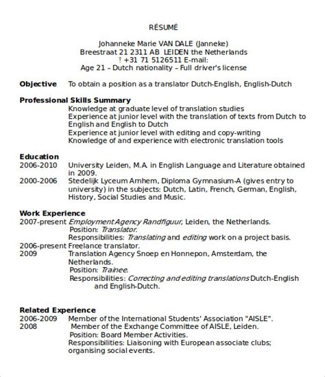 Microsoft 2000 Resume Templates by Free Resume Templates For Microsoft Word 2000 Images