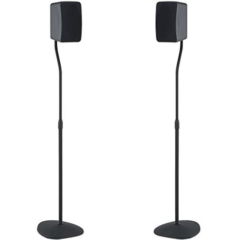 sanus adjustable height speaker stand extends 28 quot to 38