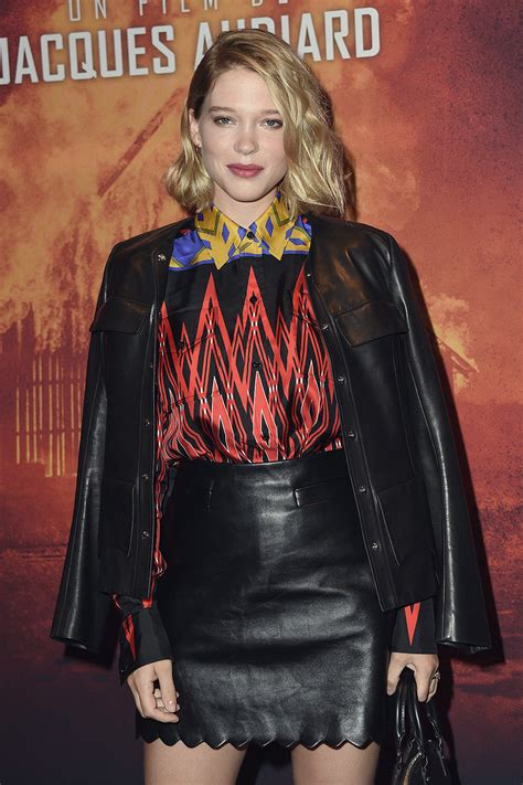 lea seydoux leather jacket lea seydoux attends premiere of les freres sisters