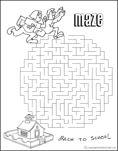 printable mazes for elementary school back to school word search and maze