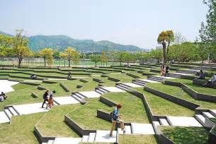 terraced university landscapes the terraced plaza is a place for both transition and