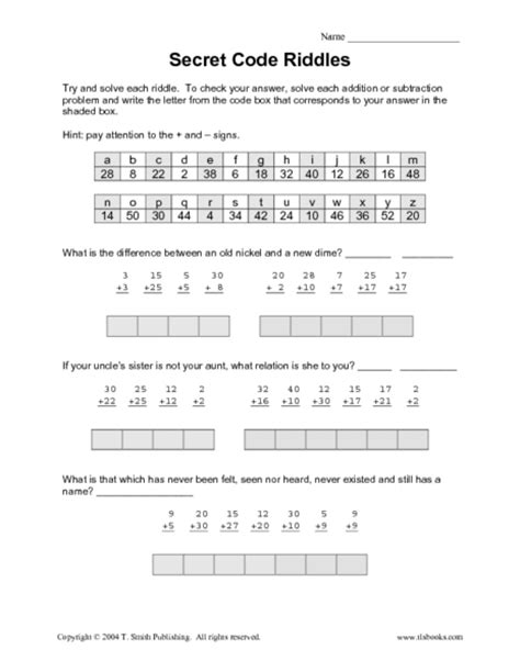 The Code Worksheets by Addition 187 Addition Worksheets Secret Code Free Math