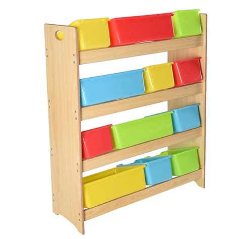 toy storage bookcase with tubs toy bin organizer kids childrens storage box playroom