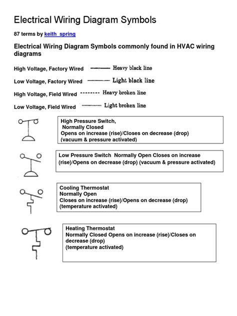 low voltage wiring diagram symbols wiring diagram with