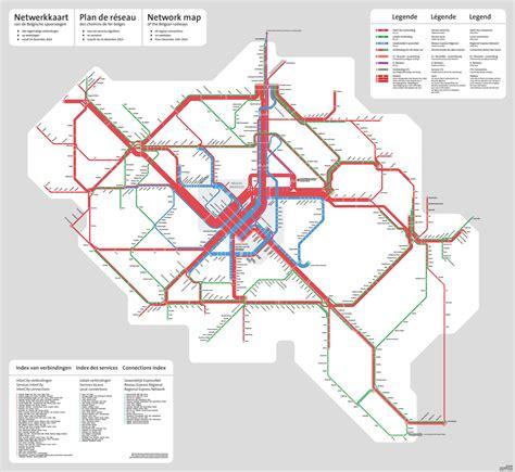 map us rail network unofficial map belgian rail network december