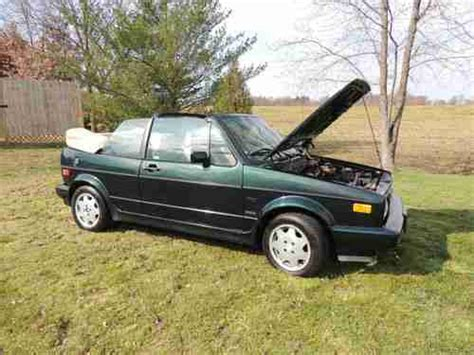 motor repair manual 1993 volkswagen cabriolet parental controls buy used 1993 volkswagen cabriolet karmann collector s edition in jasper indiana united states