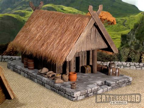 battleground hobbies how to build a viking lodge or