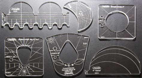 arm quilting templates rulers template set 6 westalee free motion ruler work for