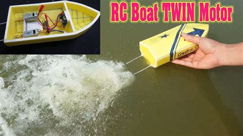 how to make a homemade boat motor how to make mini rc boat twin 180 motor youtube