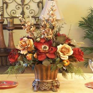 Home Decor Floral Magnolia Amp Rose Silk Floral Centerpiece Ar246 85 Floral