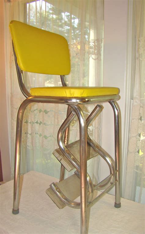 Stool With Fold Out Steps by Vintage Mod Kitchen Stool With Fold Out Steps In