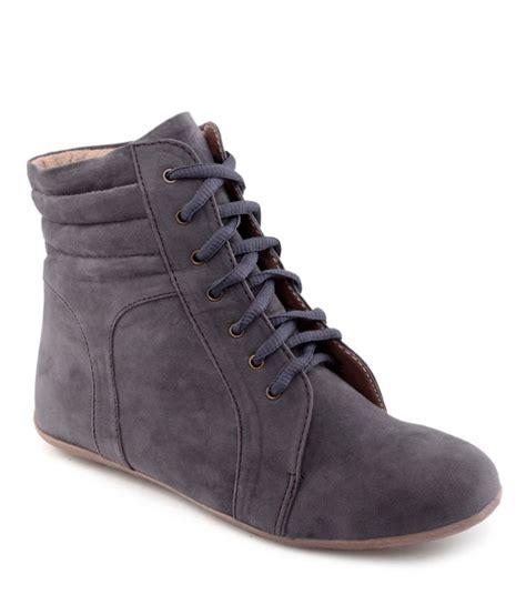 kielz gray flat boots price in india buy kielz gray flat