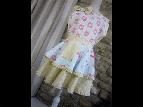 youtube apron pattern a vintage style apron for you to sew a touch of retro